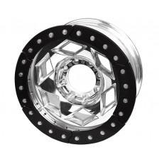 "17"" Aluminum Beadlock Wheel, (8 on 170mm w/ 4.25"" BS), Black Segmented Ring"